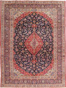 Kashan Signature : Kashan Ghotbi Tapis 295X395 D'orient Fait Main Rouille/Rouge/Violet Foncé Grand (Laine, Perse/Iran)