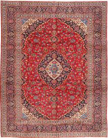 Kashan Tapis 303X388 D'orient Fait Main Rouge Foncé/Rouille/Rouge Grand (Laine, Perse/Iran)