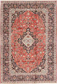 Kashan Tapis 202X300 D'orient Fait Main Marron Clair/Rouge Foncé (Laine, Perse/Iran)