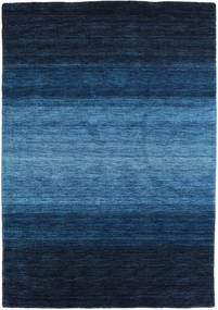 Gabbeh Rainbow - Bleu Tapis 140X200 Moderne Bleu Foncé/Bleu (Laine, Inde)