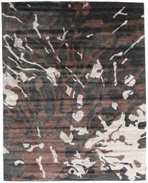 Nepal Original Tapis 240X301 Moderne Fait Main Gris Foncé/Marron Foncé (Laine/Soie De Bambou, Népal/Tibet)