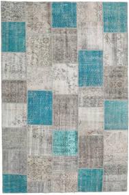 Patchwork Tapis 200X300 Moderne Fait Main Gris Clair/Bleu Turquoise (Laine, Turquie)