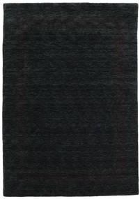 Handloom Gabba - Noir/Gris Tapis 160X230 Moderne Noir (Laine, Inde)