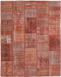 Patchwork Tapis 199X248 Moderne Fait Main Rouge Foncé/Rouge (Laine, Turquie)