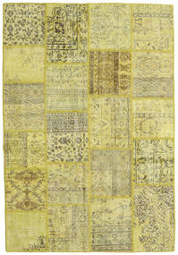 Patchwork Tapis 159X232 Moderne Fait Main Jaune/Vert Clair/Vert Olive (Laine, Turquie)