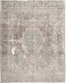 Colored Vintage Tapis 295X369 Moderne Fait Main Gris Clair Grand (Laine, Pakistan)