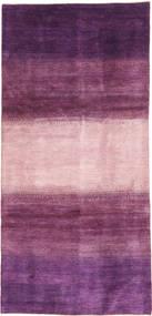 Gabbeh Persan Tapis 128X280 Moderne Fait Main Tapis Couloir Violet Foncé/Rose Clair/Rose (Laine, Perse/Iran)