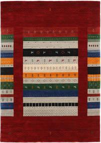 Loribaf Loom Designer Tapis 160X230 Moderne Rouge Foncé/Gris Clair (Laine, Inde)