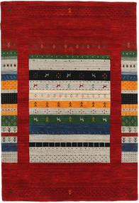 Loribaf Loom Designer Tapis 120X180 Moderne Rouge Foncé/Gris Clair (Laine, Inde)