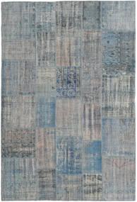 Patchwork Tapis 204X303 Moderne Fait Main Gris Clair/Bleu Clair (Laine, Turquie)