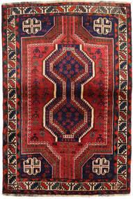 Shiraz Tapis 111X162 D'orient Fait Main Rouge Foncé/Noir (Laine, Perse/Iran)