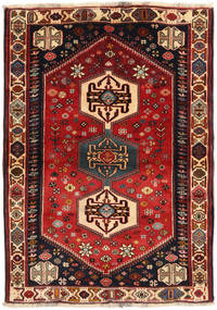 Ghashghaï Tapis 108X150 D'orient Fait Main Rouge Foncé/Noir (Laine, Perse/Iran)