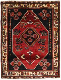 Ghashghaï Tapis 118X154 D'orient Fait Main Rouge Foncé/Marron Foncé (Laine, Perse/Iran)