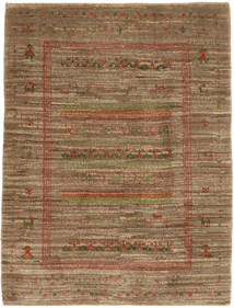 Gabbeh Persan Tapis 115X150 Moderne Fait Main Marron/Marron Clair (Laine, Perse/Iran)