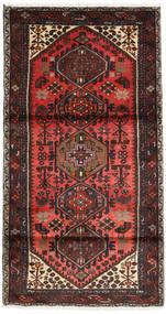 Hamadan Tapis 102X188 D'orient Fait Main Rouge Foncé/Marron Foncé (Laine, Perse/Iran)