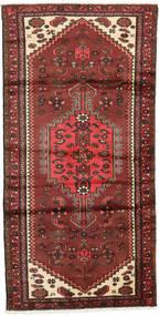 Hamadan Tapis 95X187 D'orient Fait Main Rouge Foncé/Rouille/Rouge (Laine, Perse/Iran)