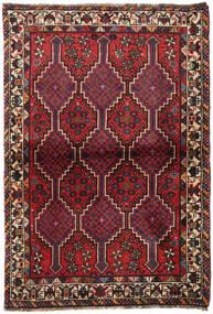 Shiraz Tapis 100X145 D'orient Fait Main Rouge Foncé/Noir (Laine, Perse/Iran)