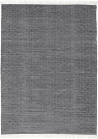 Diamond Laine - Noir Tapis 160X230 Moderne Tissé À La Main Gris Foncé/Gris Clair (Laine, Inde)