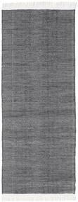 Diamond Laine - Noir Tapis 80X240 Moderne Tissé À La Main Tapis Couloir Violet Clair/Gris Clair/Gris Foncé (Laine, Inde)
