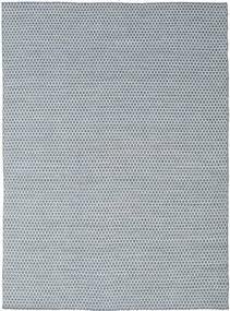 Kilim Honey Comb - Bleu Tapis 210X290 Moderne Tissé À La Main Gris Clair/Bleu Clair/Beige (Laine, Inde)