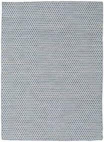 Kilim Honey Comb - Bleu Tapis 140X200 Moderne Tissé À La Main Bleu Clair/Blanc/Crème/Bleu (Laine, Inde)