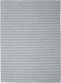 Kilim Long Stitch - Bleu Tapis 290X390 Moderne Tissé À La Main Gris Clair/Bleu Clair Grand (Laine, Inde)