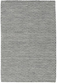 Kilim Honey Comb - Noir/Gris Tapis 120X180 Moderne Tissé À La Main Gris Clair/Gris Foncé (Laine, Inde)