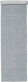 Kilim Honey Comb - Bleu Tapis 80X340 Moderne Tissé À La Main Tapis Couloir Gris Clair/Bleu Clair (Laine, Inde)