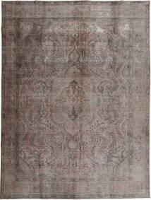 Colored Vintage Tapis 294X384 Moderne Fait Main Gris Foncé/Marron Foncé Grand (Laine, Pakistan)