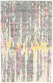 Handtufted Tapis 150X238 Moderne Gris Clair/Blanc/Crème (Laine, Inde)