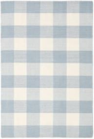 Check Kilim Tapis 120X180 Moderne Tissé À La Main Blanc/Crème/Bleu Clair/Beige (Laine, Inde)