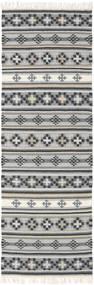 Kilim Cizre Tapis 80X250 Moderne Tissé À La Main Tapis Couloir Gris Clair/Gris Foncé (Laine, Inde)