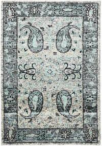 Vega Sari Soie - Gris Tapis 140X200 Moderne Fait Main Gris Clair/Noir (Soie, Inde)