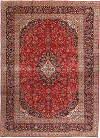 Kashan Tapis 292X408 D'orient Fait Main Rouge Foncé/Rouille/Rouge Grand (Laine, Perse/Iran)