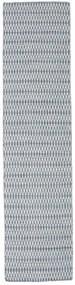 Kilim Long Stitch - Bleu Tapis 80X340 Moderne Tissé À La Main Tapis Couloir Gris Clair/Bleu Clair (Laine, Inde)