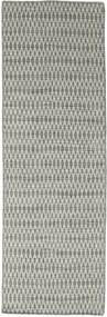 Kilim Long Stitch - Gris Tapis 80X240 Moderne Tissé À La Main Tapis Couloir Gris Clair/Gris Foncé (Laine, Inde)