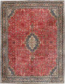 Bidjar Avec De La Soie Tapis 297X385 D'orient Fait Main Rouge Foncé/Gris Foncé Grand (Laine/Soie, Perse/Iran)