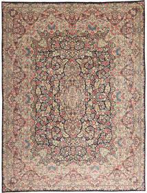 Kerman Tapis 290X387 D'orient Fait Main Gris Clair/Marron Foncé Grand (Laine, Perse/Iran)