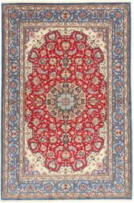 Ispahan Chaîne De Soie Tapis 152X227 D'orient Fait Main Violet Clair/Marron (Laine/Soie, Perse/Iran)