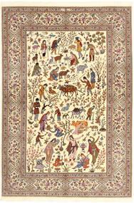 Ilam Sherkat Farsh Soie Tapis 150X220 D'orient Fait Main Beige/Marron/Marron Clair (Laine/Soie, Perse/Iran)