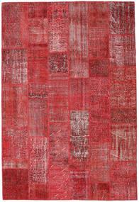 Patchwork Tapis 204X302 Moderne Fait Main Rouge Foncé/Rouge (Laine, Turquie)