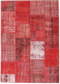 Patchwork Tapis 162X230 Moderne Fait Main Rouille/Rouge/Rouge Foncé/Rouge (Laine, Turquie)