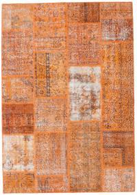 Patchwork Tapis 161X232 Moderne Fait Main Marron Clair/Orange (Laine, Turquie)