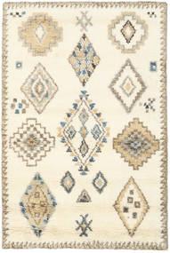 Berber Indo - Blanc Écru/Beige Tapis 120X180 Moderne Fait Main Jaune/Marron Clair (Laine, Inde)