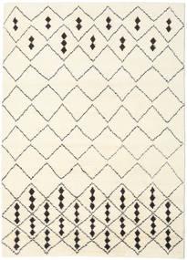 Berber Indo - Off-Blanc/Noir Tapis 210X290 Moderne Fait Main Beige/Blanc/Crème (Laine, Inde)