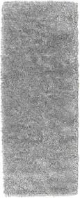 Stick Saggi - Gris Tapis 80X200 Moderne Fait Main Tapis Couloir Marron Foncé/Gris Clair (Laine, Inde)
