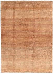 Gabbeh Persan Tapis 144X202 Moderne Fait Main Marron Clair/Rouille/Rouge (Laine, Perse/Iran)