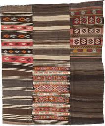 Kilim Patchwork Tapis 210X248 Moderne Tissé À La Main Marron Foncé/Gris Foncé (Laine, Turquie)