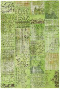 Patchwork Tapis 161X238 Moderne Fait Main Vert Clair/Vert Olive (Laine, Turquie)