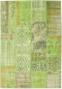 Patchwork Tapis 161X233 Moderne Fait Main Vert Clair (Laine, Turquie)